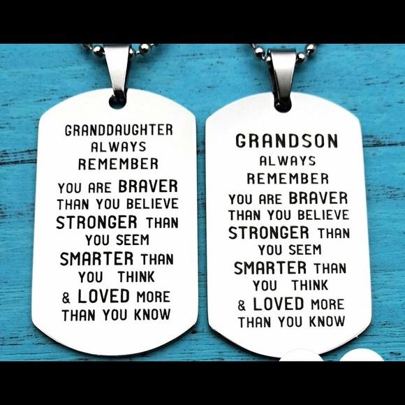 Jewelry - Grandson, Dog Tag & Chain